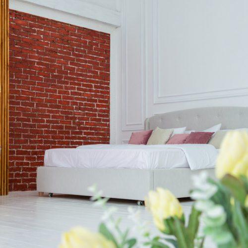 Локация спальня с кроватью, фотостудия VISION