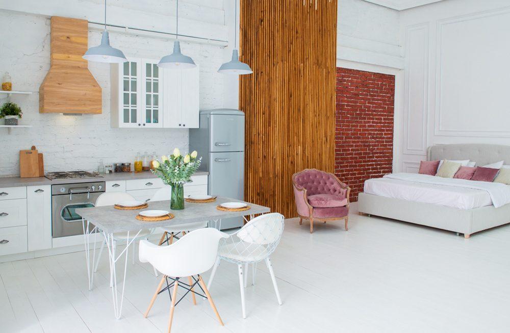 Локация кухня и спальня, фотостудия VISION