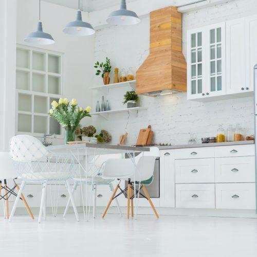 Белая кухня, фотостудия VISION